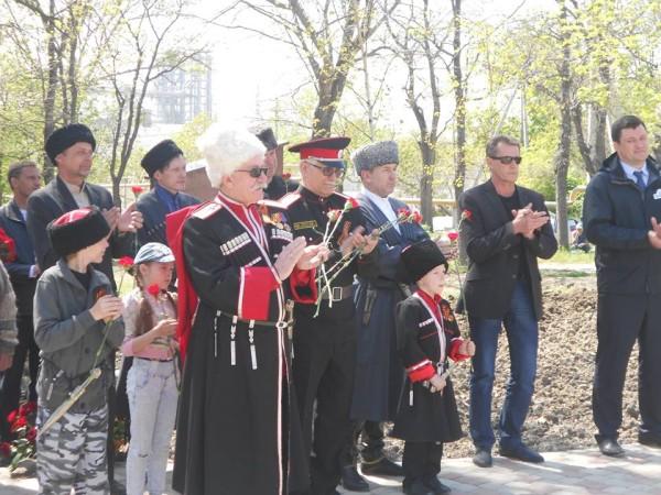 Открытие памятного знака в Новороссийске 2
